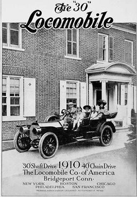 "1910 Locomobile ""30"" advertisement; https://www.pinterest.ca/pin/327496204132587567/."