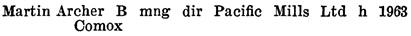 """Henderson's Greater Vancouver City Directory, 1918, page 698 [first name spelled """"Archer""""]."""