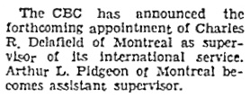 The Lethbridge Herald, November 7, 1951, page 2, column 3.