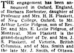 The Winnipeg Tribune, March 3, 1941, page 8, column 3.