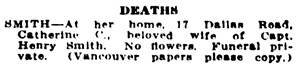 Victoria Daily Colonist, August 9, 1916, page 7, column 7; http://archive.org/stream/dailycolonist58y207uvic#page/n6/mode/1up.