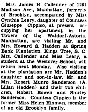 The Brooklyn Daily Eagle (Brooklyn, New York), March 28, 1939, page 6, column 4.