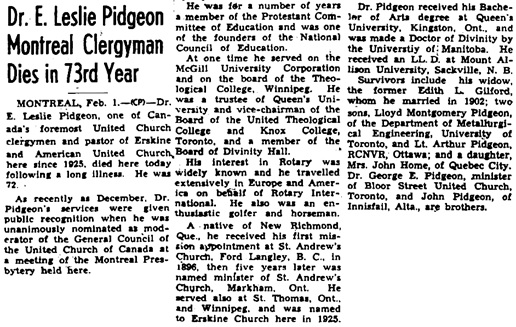 The Ottawa Journal, February 2, 1946, page 22, columns 1-2.