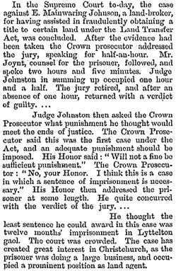 Telegraphic News, New Zealand Times, Volume XXX, Issue 4480, 29 July 1875, http://paperspast.natlib.govt.nz/newspapers/NZTIM18750729.2.13.