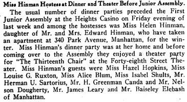 Brooklyn Life (Brooklyn, New York), December 9, 1916, page 10, column 1.