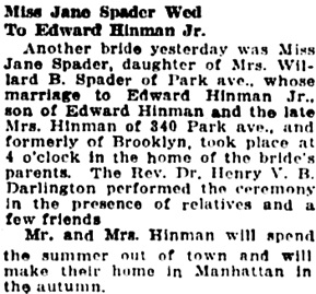 The Brooklyn Daily Eagle (Brooklyn, New York), June 3, 1927, page 9, columns 2-3.