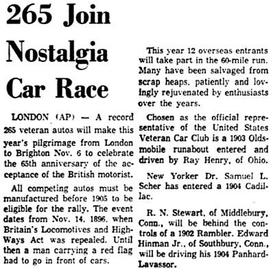 The Miami News (Miami, Florida), October 26, 1960, page 5, column 1.