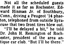 Democrat and Chronicle (Rochester, New York), August 28, 1955, page 23, column 2.
