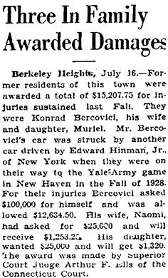 The Courier-News (Bridgewater, New Jersey), July 16, 1929, page 16, column 5.