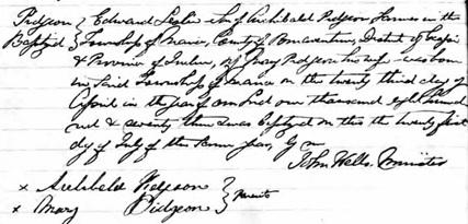Ancestry.com. Quebec, Canada, Vital and Church Records (Drouin Collection), 1621-1968 [database on-line]. Provo, UT, USA: Ancestry.com Operations, Inc., 2008. Original data: Gabriel Drouin, comp. Drouin Collection. Montreal, Quebec, Canada: Institut Généalogique Drouin. Name: Pigeon; [Edward Leslie Pidgeon]; [Pidgeon]; Event: Baptême (Baptism); Baptism Year: 1873; Baptism Location: New Richmond, Québec (Quebec); Religion: Presbyterian; Place of Worship or Institution: Presbyterian Church.