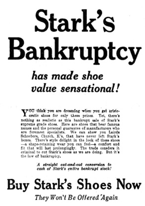 Vancouver Daily World, August 30, 1922, page 3, columns 1-3 [portion of advertisement].