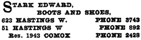 Henderson's City of Vancouver and North Vancouver Directory, 1909, page 1065.