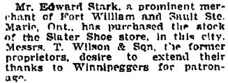 Manitoba Morning Free Press (Winnipeg), January 7, 1904, page 9, column 1.