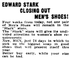 Vancouver Daily World, February 11, 1921, page 13, column 6.