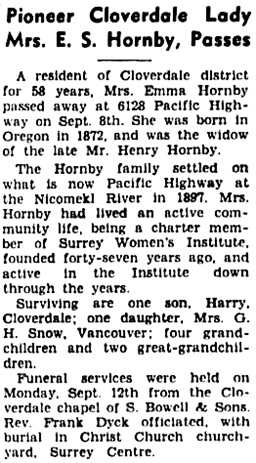 Surrey Leader (Surrey, British Columbia), September 15, 1955, page 1, column 8.