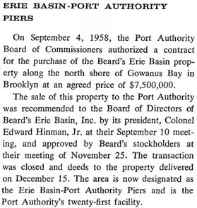 Port of New York Authority, Annual Report, 1958, page 10, column 2; http://corpinfo.panynj.gov/files/uploads/documents/financial-information/annual-reports/annual-report-1958.pdf.