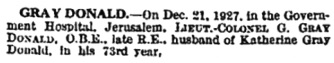 The Times (London, England), January 5, 1928; page 1, column 2.