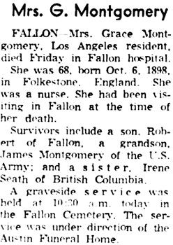 Reno Gazette-Journal (Reno, Nevada), April 18, 1966, page 17, column 2.