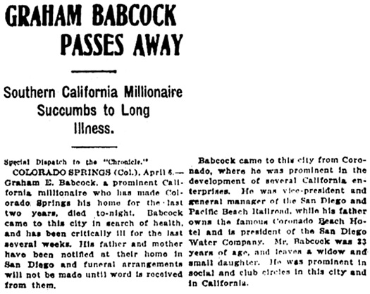San Francisco Chronicle, April 7, 1908, page 1, column 4.