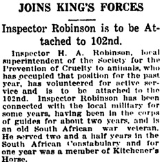 Vancouver Daily World, December 11, 1915, page 17, column 4.