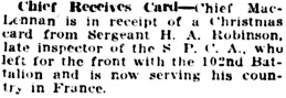 Vancouver Daily World, January 2, 1917, page 8, column 4.