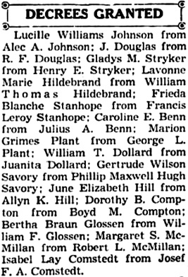 Reno Gazette-Journal (Reno, Nevada), June 9, 1942, page 14, column 5.