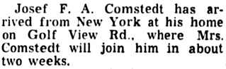 The Palm Beach Post (West Palm Beach, Florida), November 25, 1949, page 5, column 4.
