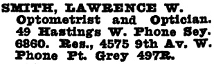 Wrigley Henderson Amalgamated British Columbia Directory, 1925, page 1146.