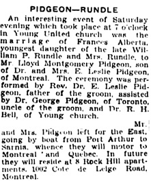 The Winnipeg Tribune, September 10, 1928, page 9, columns 3-4 [excerpts].