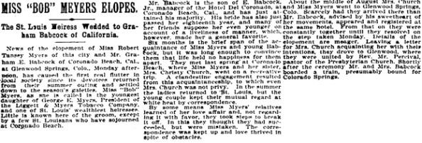 St. Louis Post-Dispatch (St. Louis, Missouri), September 24, 1895, page 6, column 1.
