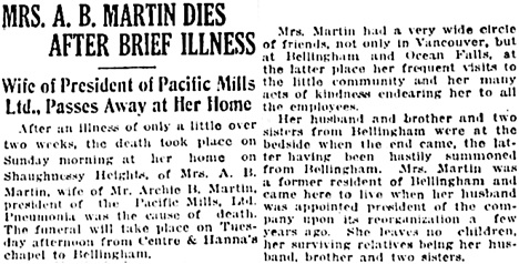 Vancouver Daily World, February 16, 1920, page 4, column 4.