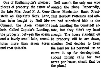 Hartford Courant (Hartford, Connecticut), September 18, 1972, page 21, column 5.