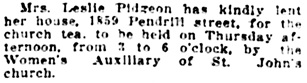 Personal Notes, Vancouver World, January 28, 1914, page 9, column 5.