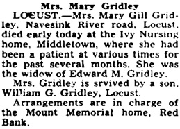 Asbury Park Press (Asbury Park, New Jersey), February 8, 1947, page 2, column 7.
