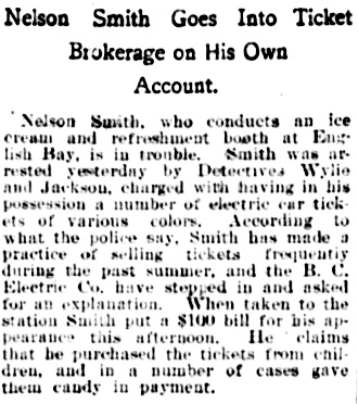 Vancouver Daily World, September 18, 1901, page 4, column 6.