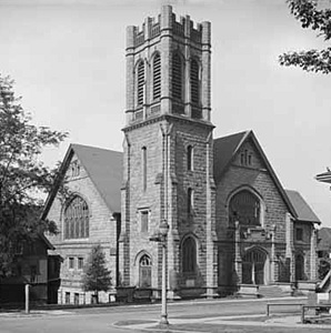 Northwest Broughton and Comox, St. John's Presbyterian Church [cropped], Vancouver Public Library, VPL Accession Number: 7882; http://www3.vpl.ca/spePhotos/LeonardFrankCollection/02DisplayJPGs/1640/7882.jpg.