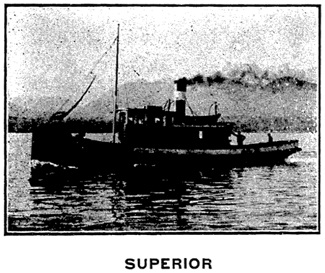 S.S. Superior, G. H. French Tug Boat Co. advertisement [detail]; Henderson's City of Vancouver Directory, 1908, page 40.