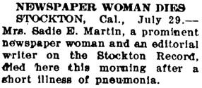 The Tacoma Times (Tacoma, Washington), July 29, 1909, page 3, column 1.