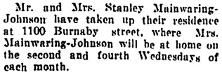 Vancouver Daily World, September 8, 1906, page 8, column 3.