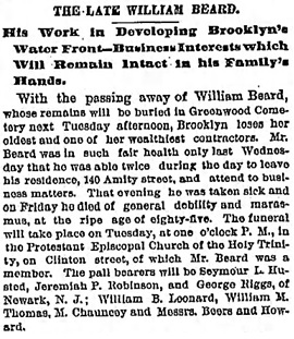 The Brooklyn Daily Eagle (Brooklyn, New York), January 10, 1886, page 16, column 2.