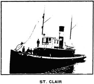 Tug St. Clair, G. H. French Tug Boat Co. advertisement [detail]; Henderson's City of Vancouver Directory, 1908, page 40.