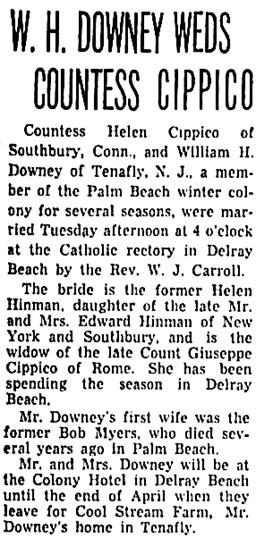 The Palm Beach Post (West Palm Beach, Florida), April 19, 1944, page 7, column 1.