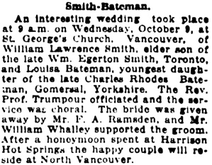 Vancouver Daily World, October 12, 1918, page 6, column 7.