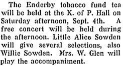 Enderby Press and Walker's Weekly, September 2, 1915, page 1, column 1; https://open.library.ubc.ca/collections/bcnewspapers/xenderby/items/1.0178993#p0z-1r0f: