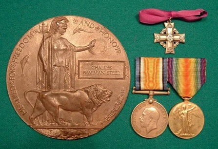 Canadian Virtual War Memorial, medals for Charles Pearman Steer; http://www.veterans.gc.ca/eng/remembrance/memorials/canadian-virtual-war-memorial/detail/66168.