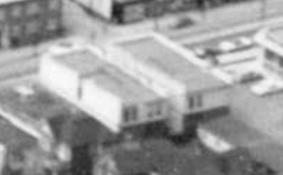 Aerial view of the West End showing the increase of apartment buildings west of Cardero Street, 1957, Vancouver City Archives - Dist P133