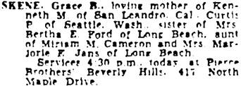 The Los Angeles Times, July 24, 1950, page 40, column 6.