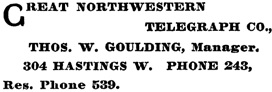 Henderson's BC Gazetteer and Directory, 1901, page 686.