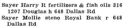 Henderson's Victoria Directory, 1921, page 517.