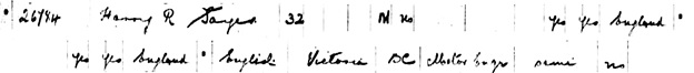 """""""Canada Passenger Lists, 1881-1922,"""" database with images, FamilySearch (https://familysearch.org/ark:/61903/1:1:2H2L-5NH : 27 December 2014), Harry R Sayer, May 1910; citing Immigration, Quebec City, Quebec, Canada, T-4765, Library and Archives Canada, Ottawa, Ontario."""